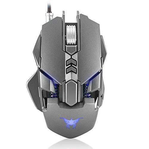 GY Advanced Gaming Mouse Ajusta El Peso, CW30 Gaming Mouse Ratones 7 Botones 3200DPI 1000Hz Return Rate Weight Tuning 4 Color Respirando La Luz LED