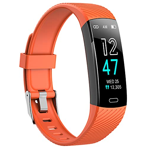 Asmoda Fitness Tracker - Activity Tracker Watch with Heart Rate Blood...