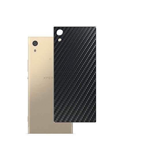 Vaxson 2-Pack Pellicola Protettiva Posteriore, compatibile con Sony Xperia XA1, Back Film Protector Skin Cover [ Non Vetro Temperato ] - Fibra di Carbonio Nera