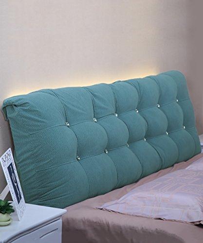 NYDZDM matraskussen van katoen, zachte hoofdsteun op het bed, grote kussens, voor tweepersoonsbed deelbaar, compleet/groot/extra groot 120 * 15 * 58cm Blauw