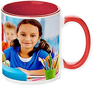 Personalized Coffee Mug - Red Inside - Add pictures, logo, or text to our Custom Mugs