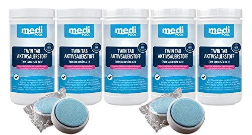 Medipool 598001MP Twin Tab Aktivsauerstoff, 5 x 1 kg