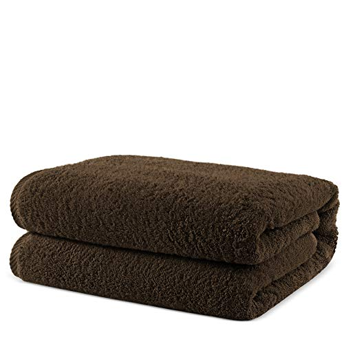 Towel Bazaar 100% Turkish Cotton Multipurpose Towels-Large Bath Sheet/Beach Towel/Bath Towel, Eco-Friendly (Oversized 40×80 inches, Cocoa)…