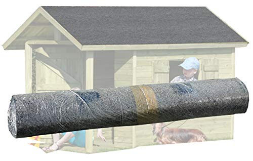 Gartenpirat rollo con 7,5 m² de tela asfáltica arenosa para techos color negro