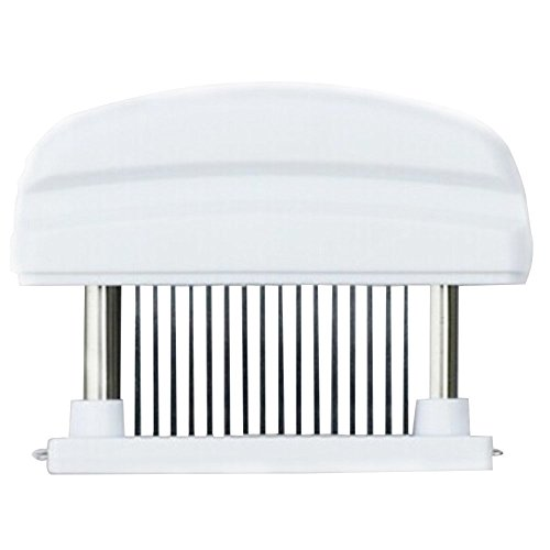 Goege Meat Tenderizer,48-Blade Steel Manual Loose Meet Needle Enhance Meat Flavor and Texture For Steak,Chicken,Fish and Pork,White