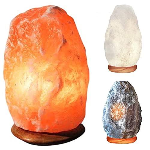 Lampe à sel de roche naturel en cristal de l'Himalaya de 2-3 kg, 100 % authentique, de qualité supérieure avec prise électrique standard et ampoule certifiées CE