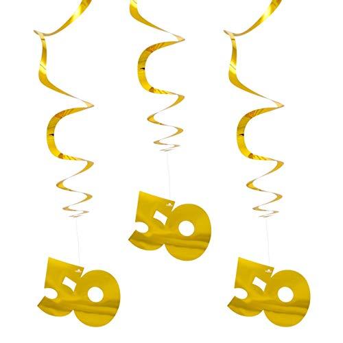 3 Hängespiralen Gold 50