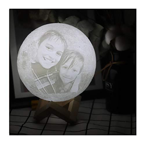 Custom Photo 3D Mond Tischlampe personalisierte 16 Farbe Nachtlicht kostenpflichtige Bett Licht Hochzeitstag Weihnachtsgeschenk für Kinder (12)