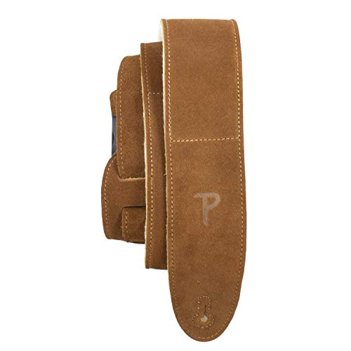 Perri's Leathers Ltd. - 1 Correa de Guitarra - Acolchado de Piel de Oveja - Cuero - Longitud Ajustable - Beige Natural - DL325S-200
