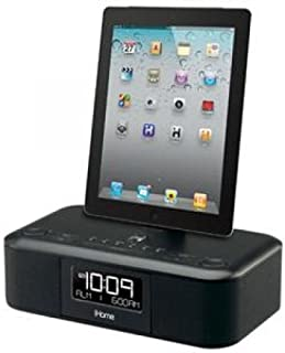 iHome iD95BZC App-enhanced Dual Alarm Stereo Clock Radio for 30-Pin iPhone/iPod with FM Presets (Black)