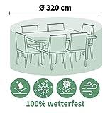 BEO Abdeckung für Outdoor Gartenmöbel rund Ø 320 cm – schützt vor Wind, Regen und...