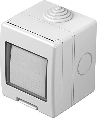 IP55 Interruptor de cambio – Interruptor de luz, interruptor de cambio exterior baño IP55 blanco (interruptor de cambio)
