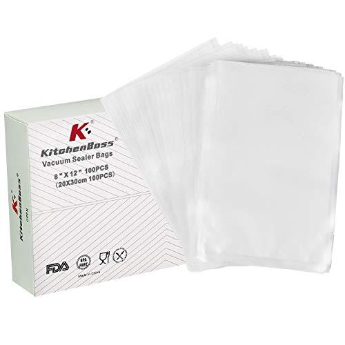 Vacuum Sealer Bags,Food Saver Bags 100 Quart Size 8