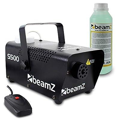 beamz Smoke Machine Remote Control Fog Mobile DJ Disco Haze Effect Fluid 500W