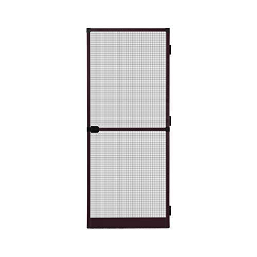 Fliegengitter Insektenschutz Tür Alurahmen Mückengitter Balkontür 100 x 210 cm braun