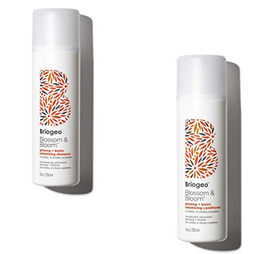 Zagg 2 Briogeo-Blossom & Bloom Volumizing, Fortified with Follicle Stimulating Ginger, Ginseng, Biotin for Full and Healthy Hair, 8 oz (Shampoo + Conditioner), 18/8 Edelstahl