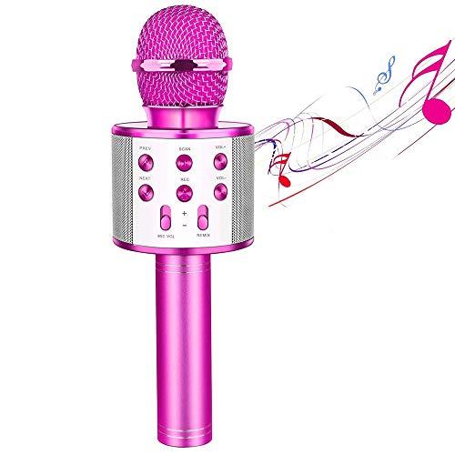 WXYLYF Micrófono Portátil De Karaoke con Bluetooth, Micrófono Inalámbrico con Karaoke con Bluetooth Altavoz Máquina De Regalo De Cumpleaños para Fiestas En El Hogar