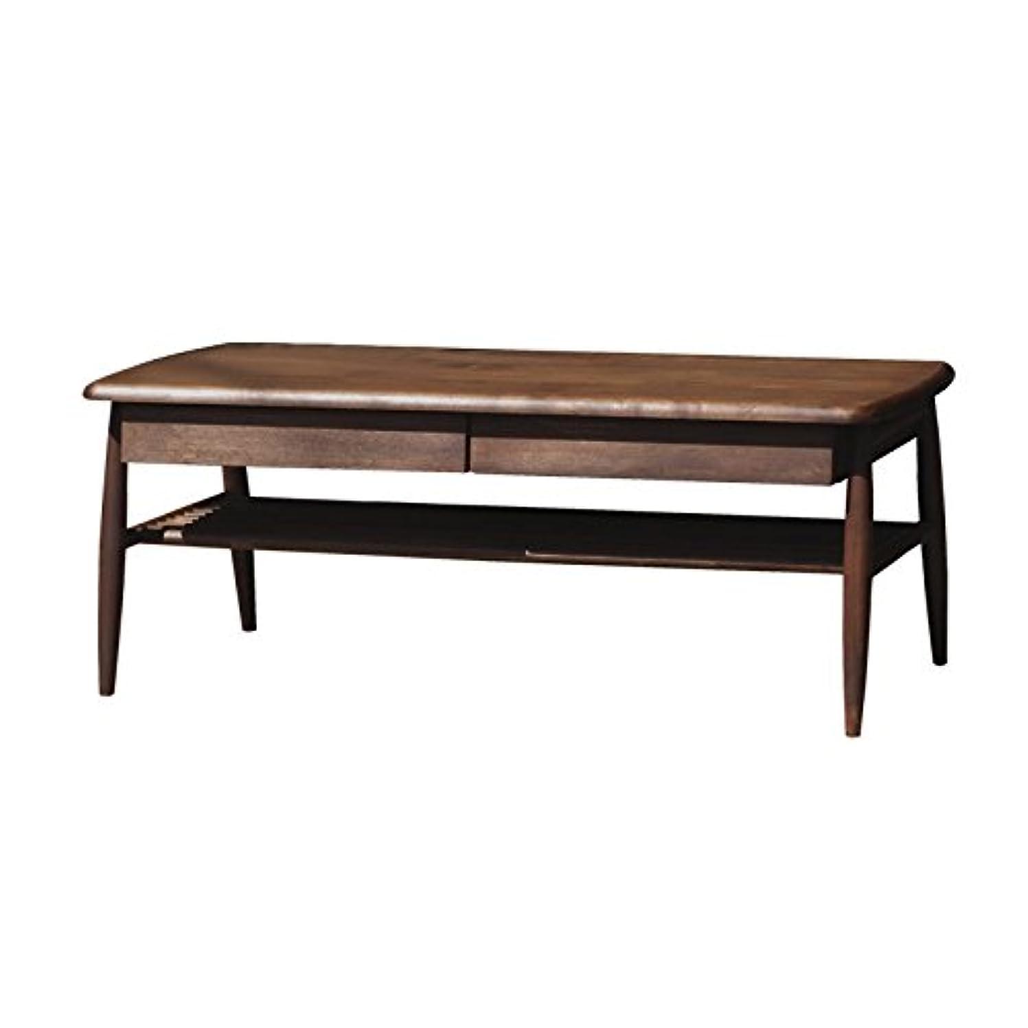 スカウトピラミッド活気づくISSEIKI センターテーブル 幅100㎝ ブラウン 木製 ELAN 100 CENTER TABLE (MBR)