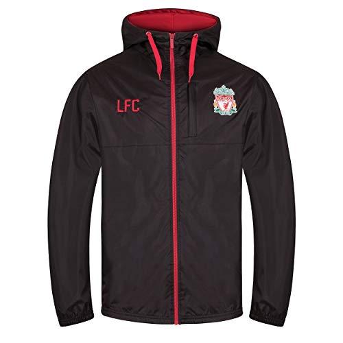 Liverpool FC - Herren Wind- und Regenjacke - Offizielles Merchandise - Geschenk für Fußballfans - Schwarz - XL