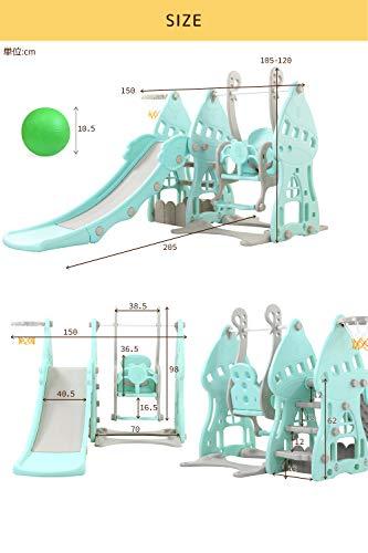 NEOLEADすべり台ブランコSweetLand遊具キッズすべりだい滑り台NL-SBDB06BL(ブルー)