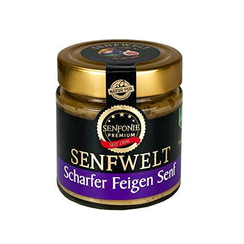 Altenburger Original Senfonie Premium Scharfer Feigen Senf 180 ml, scharfer Senf verfeinert mit Feigen Fruchtaufstrich
