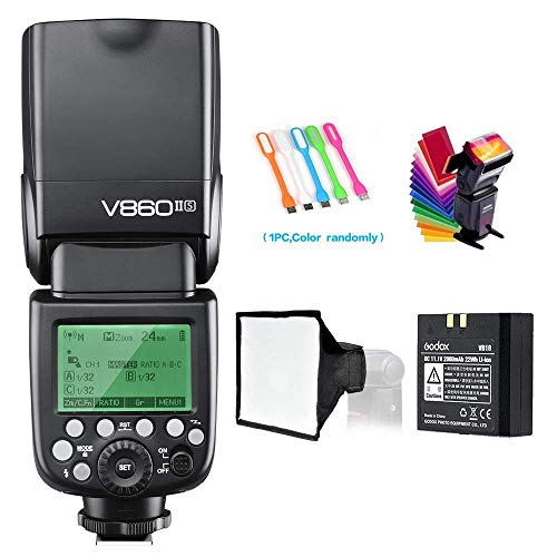 Godox V860II-S High-Speed Sync GN60 1/8000 2.4G TTL Li-ion Battery Camera Flash Speedlite Light