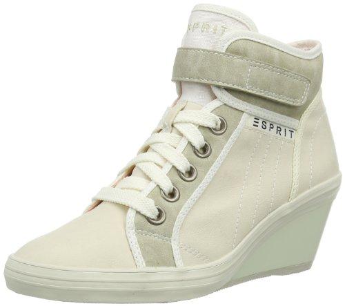 ESPRIT Lexa Tape Wedge 014EK1W008, Damen Sneaker, Beige (shell beige 279), EU 39