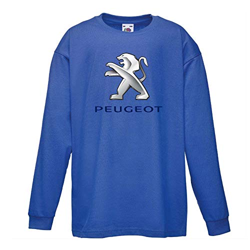 Peugeot Logo Logo Camiseta Mejores Impresión Camisa Niño Coche Negro Blanco Rojo Azul Manga Larga Regalo Cuello Redondo Verano T-Shirts Shirt Regalo
