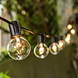 VMANOO Outdoor String Lights 25Ft Globe Patio Lighting G40 Bulbs UL Listed for Outside Yard Gazebo Party Wedding Tents Porch Garden Bistro Pergola Backyard Deck Hanging Indoor Balcony Decor Lights