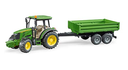 Bruder - Tractor John Deere 5115n con remolque