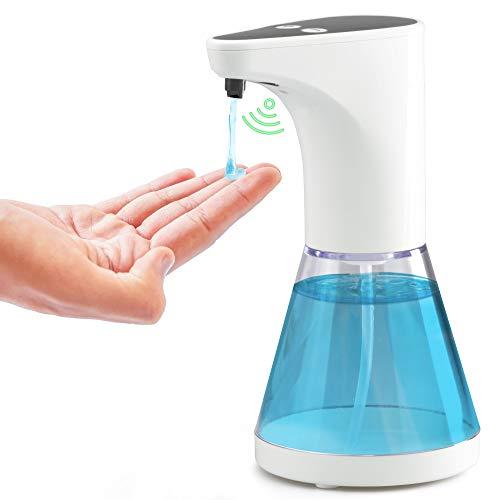 gbways Dispenser Sapone Automatico Gel Igienizzante 500ml Maxi Durata Antibatterico Sapone Sensore di Movimento Infrarossi Regolabile per Ingresso Casa Negozio Ufficio Palestra Bar Farmacia