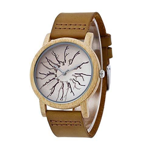 Orologio da uomo Reloj de Madera: Reloj Deportivo Industrial de Cuarzo de Alta Gama, Hecho a Mano, Saludable, Puede traer Buena Suerte, Romance, for un Socio (Size : Women)
