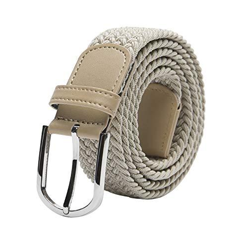 TANGCHAO Stoffgürtel Stretchgürtel Elastik Flechtgürtel Geflochtener und Elastischer Dehnbarer Gürtel für Damen und Herren Breite 3.3cm MI-100cm
