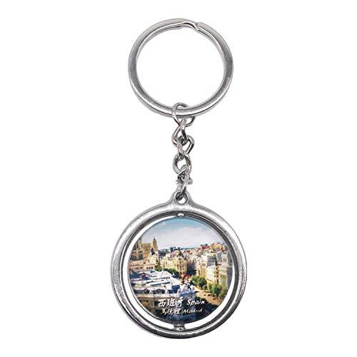 Wedare Keychain Souvenir Llavero de cristal de cristal 3D Llavero Decoración giratoria Recuerdo turístico Hombres Mujeres Accesorios Decoración giratoria de regalo