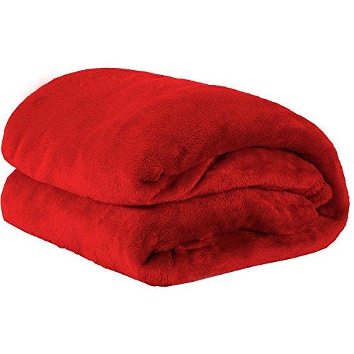 Cobertor Casal Manta de Microfibra Vermelho- Guilherme Enxovais