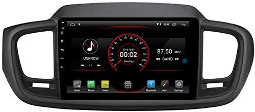 FGVBC Reproductor de DVD para Coche GPS Unidad Principal estéreo Navi Radio Multimedia WiFi Compatible con Kia Sorento 2015 2016 2017 2018 2019 Control del Volante
