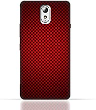 Lenovo Vibe P1m TPU Silicone Case With Abstract Red With Black Dots Pattern Design