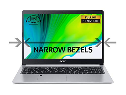 Acer Aspire 5 A515-54G 15.6-inch Laptop - (Intel Core i5-10210U, 8GB RAM, 512GB SSD, Nvidia GeForce MX250, Full HD Display, Windows 10, Silver)