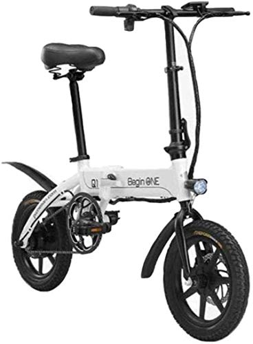 RDJM Bici electrica Fast Bicicletas eléctricas Bicicletas for adultos de aluminio ligero eléctricas con pedales ayuda de la energía y 36V de iones de litio con 14 pulgadas ruedas y 250W cubo del motor