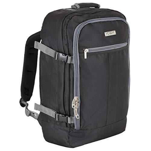 Flight Knight 55x35x20cm Handgepack Rucksack - Leichtgewicht Reiserucksack fur das Flugzeug Bordgepack 55x40x20 cm - Robuster & praktischer Backpack - Hochwertiger Kabinenkoffer