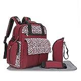 Producto del bebé, Momia bolsa puede diagonal multifunción portátil de gran capacidad viaje materno-infantil Paquete Bolsa de bebé (Color : Pink)