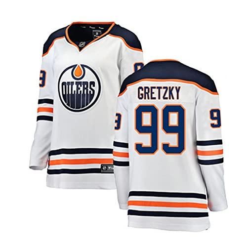 ZRHXN Eishockey Jersey Edmonton Oilers Team #99 Gretzky Jersey Männer Sweatshirts Atmungsaktives Langarmes T-Shirt,XXXL