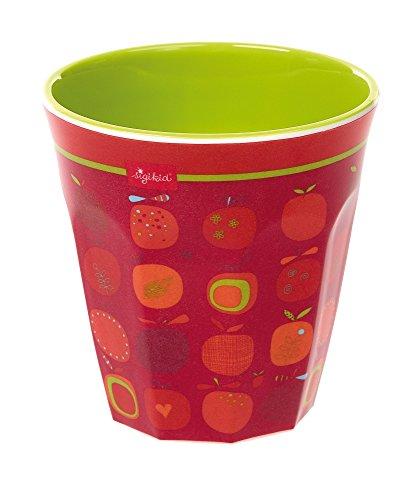Sigikid, 24763, meisjes, melamine drinkbeker, appelhart, rood