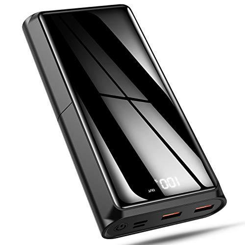 Bewahly USB C Powerbank 20000 mAh, PD 18W Power Delivery Externe Batterij met LED Display voor iPhone, iPad, Samsung, Huawei, Xiaomi en andere smartphone, tablet - Zwart