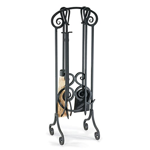 Napa Forge Pilgrim Home And Hearth 19001 Antique Scroll Fireplace Tool Set, Nero