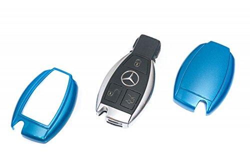 Protex Coque de protection ultra brillante en ABS rigide pour télécommande à 2 boutons Mercedes-Benz - Rouge