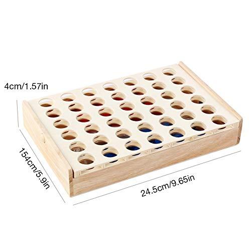 Houten 4-op-rij spel Kies tussen rood of blauw dubbel tafelspeelgoed voor kinderen en familie voor de lol