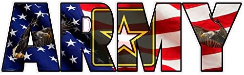 United States Army American Flag Eagle Lettering Decal 8 product image