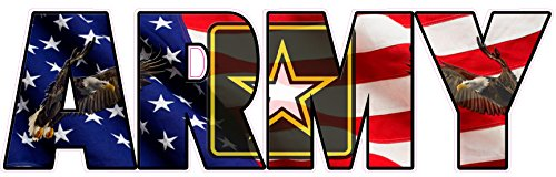 United States Army American Flag Eagle Lettering Decal 8' from The United States