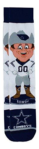 For Bare Feet Dallas Cowboys Mascot Socks, Large